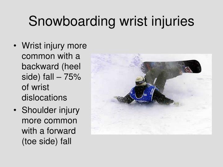 Snowboarding wrist injuries