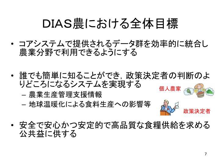 DIAS農における全体目標