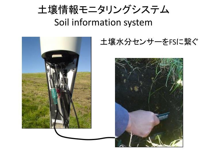 土壌情報モニタリングシステム