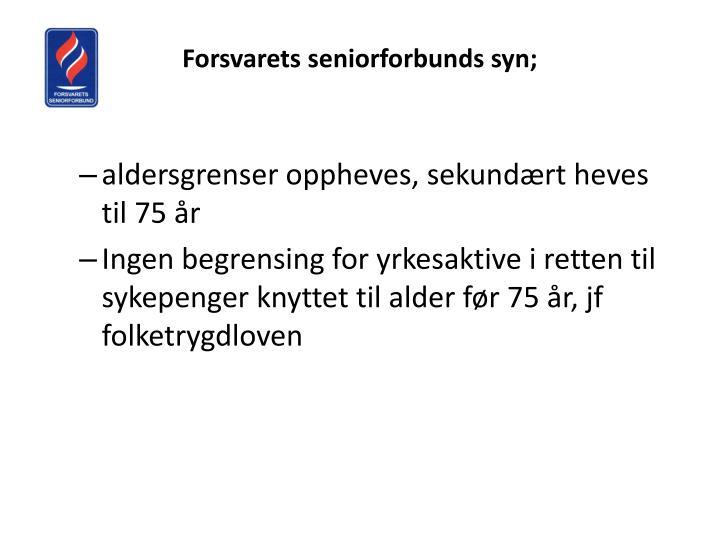 Forsvarets seniorforbunds syn;