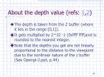 about the depth value refs 1 2