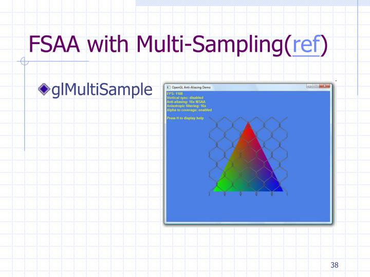 FSAA with Multi-Sampling(