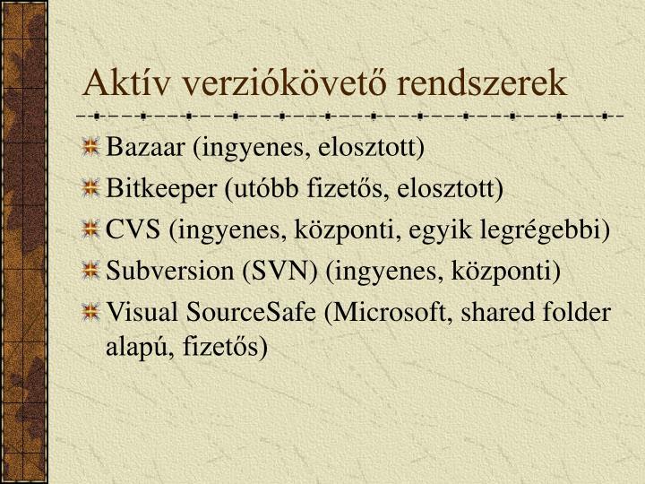 Aktív verziókövető rendszerek