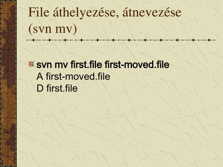 File áthelyezése, átnevezése