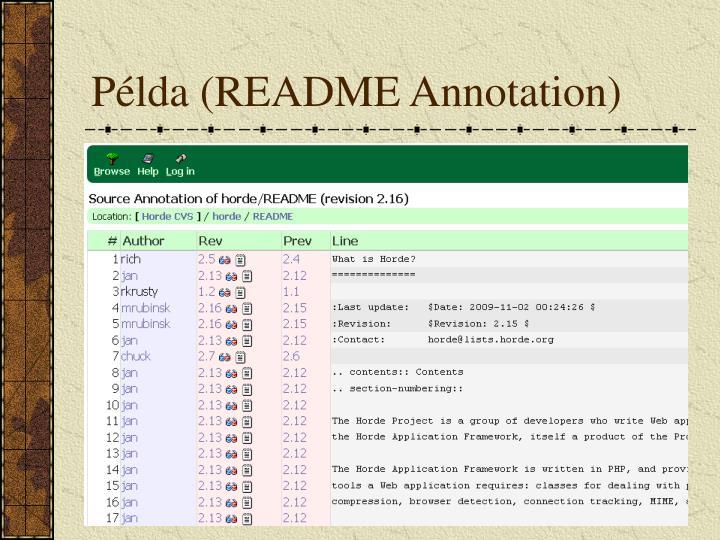 Példa (README Annotation)