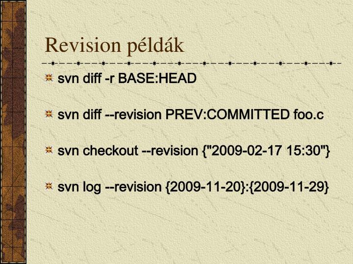 Revision példák