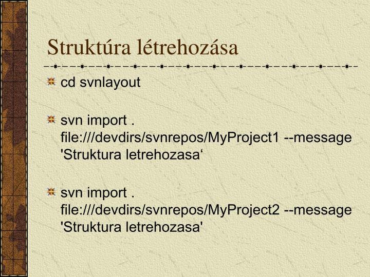 Struktúra létrehozása