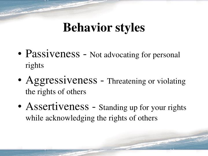 Behavior styles