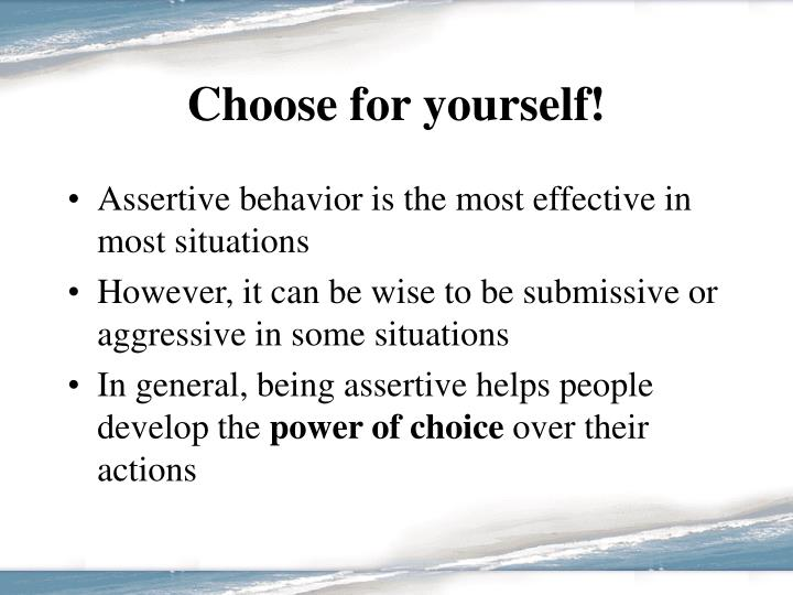 Choose for yourself!