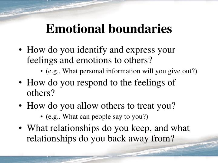 Emotional boundaries