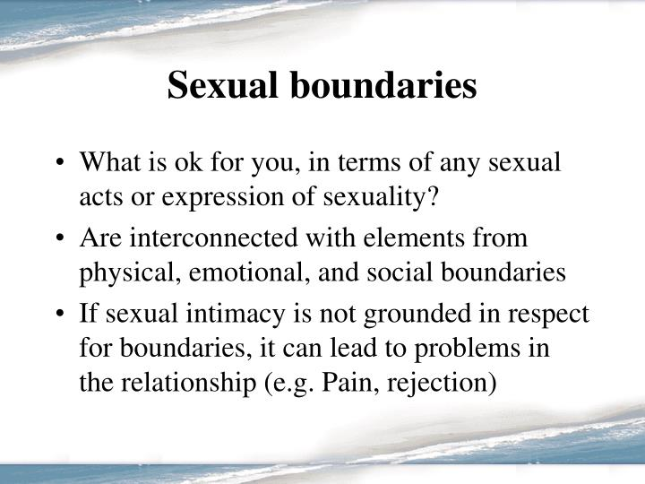 Sexual boundaries