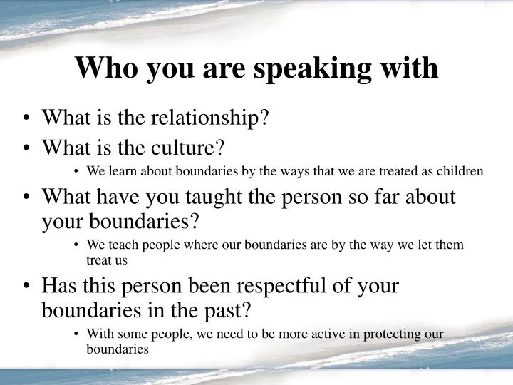 Who you are speaking with