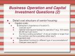 business operation and capital investment questions 2