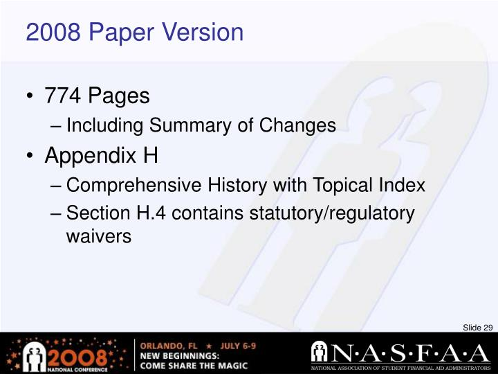 2008 Paper Version