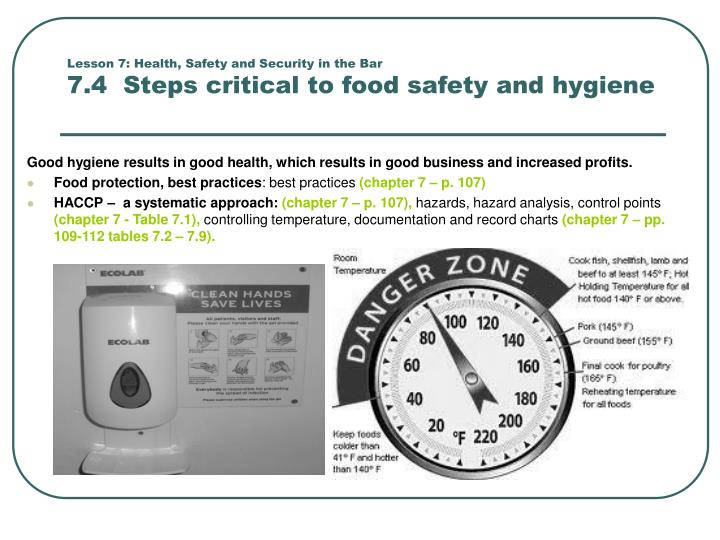 Lesson 7: Health, Safety and Security in the Bar