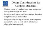 design considerations for cordless standards