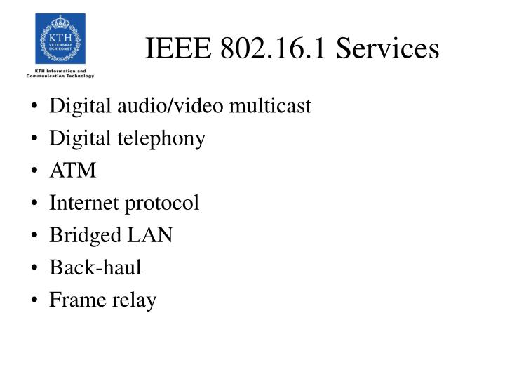 IEEE 802.16.1 Services