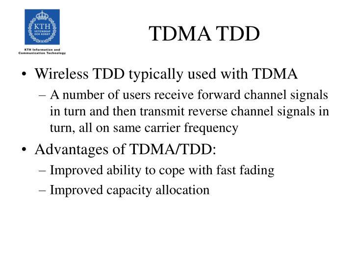 TDMA TDD