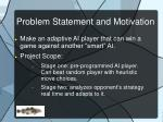 problem statement and motivation