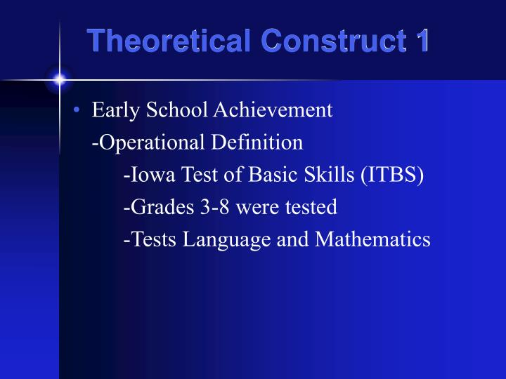 Theoretical Construct 1