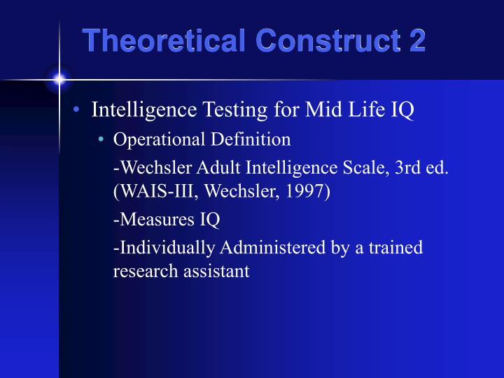 Theoretical Construct 2