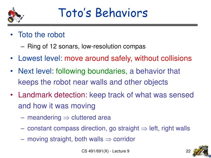 Toto's Behaviors