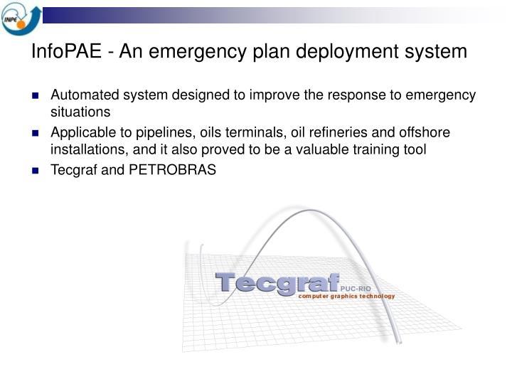 InfoPAE - An emergency plan deployment system