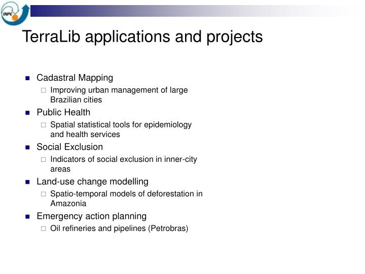 TerraLib applications and projects