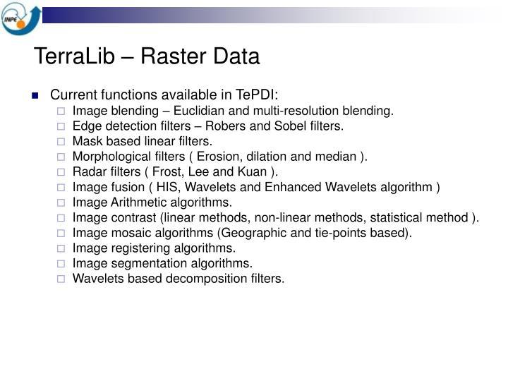 TerraLib – Raster Data