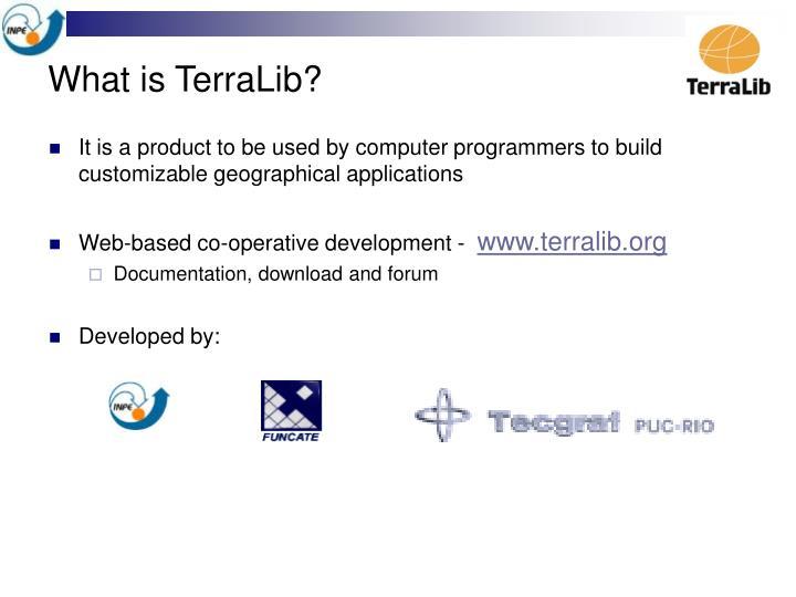 What is TerraLib?