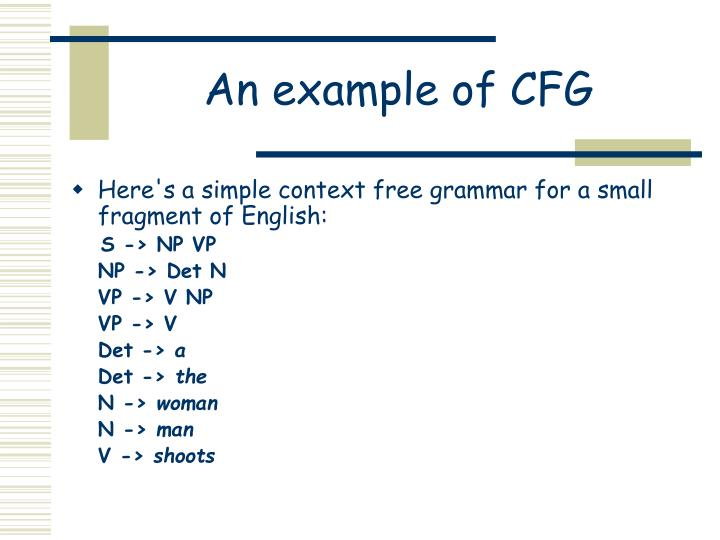 An example of CFG