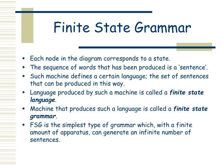 Finite State Grammar
