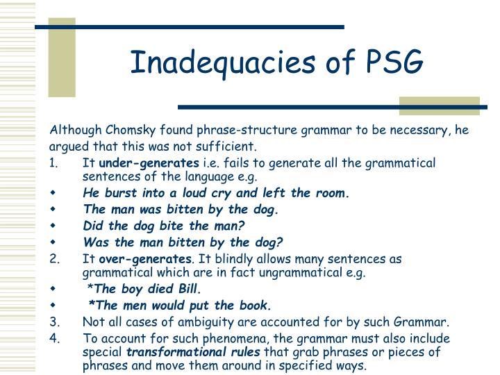 Inadequacies of PSG