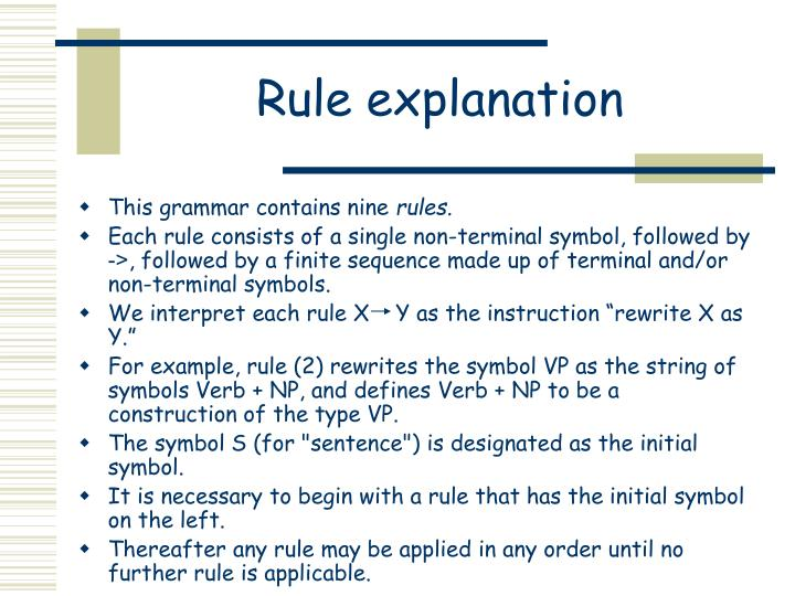 Rule explanation
