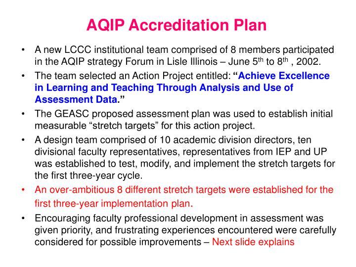 AQIP Accreditation Plan