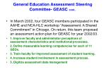 general education assessment steering committee geasc cont