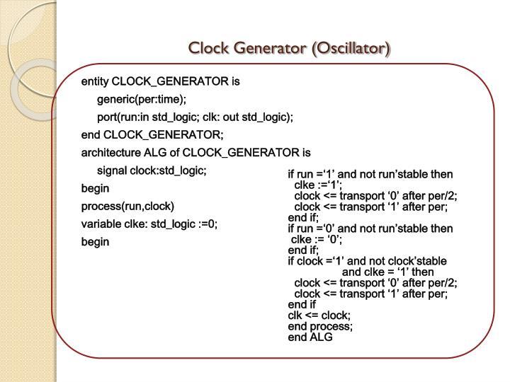Clock Generator (Oscillator)