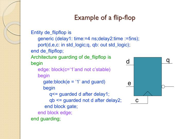 Example of a flip-flop