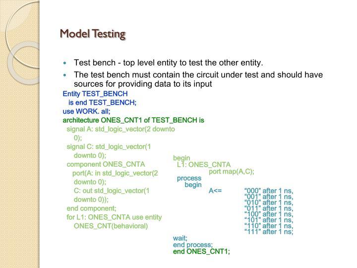 Model Testing