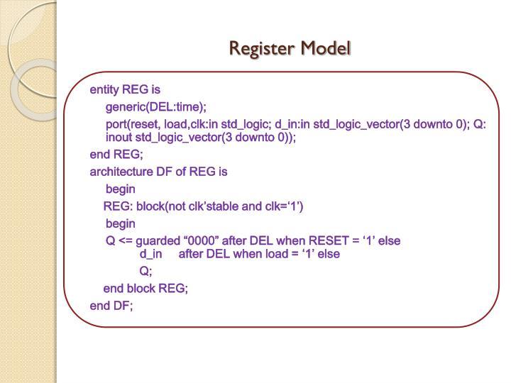 Register Model