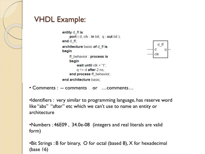 VHDL Example: