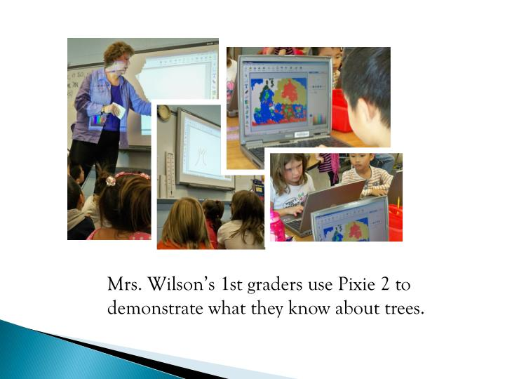 Mrs. Wilson's 1st graders use Pixie 2 to demonstrate what they know about trees.
