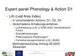 expert panel phenology action d12