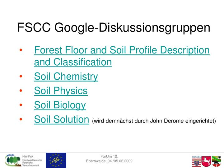FSCC Google-Diskussionsgruppen