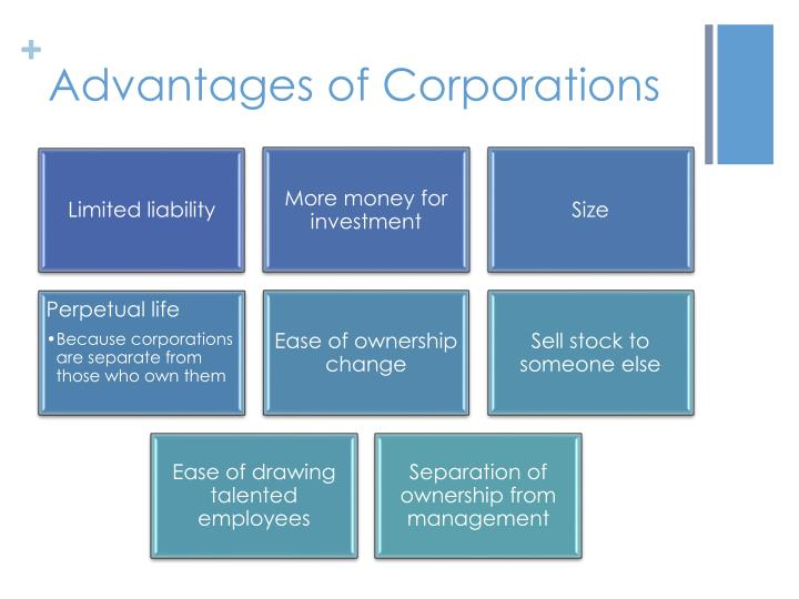 Advantages of Corporations
