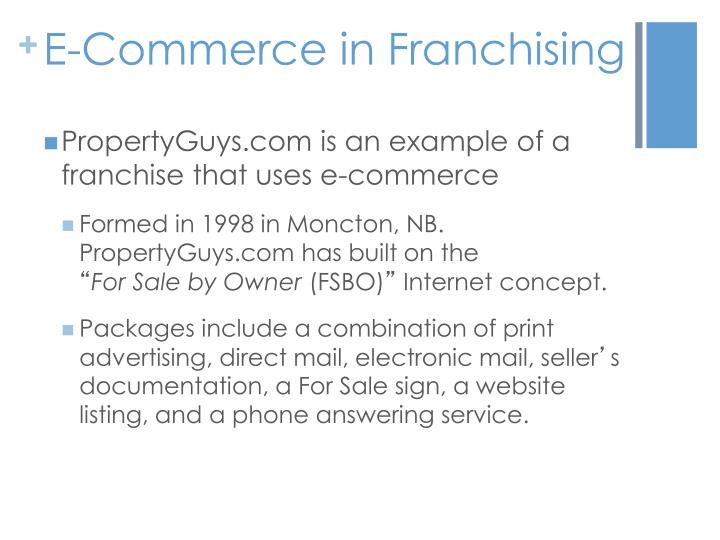 E-Commerce in Franchising