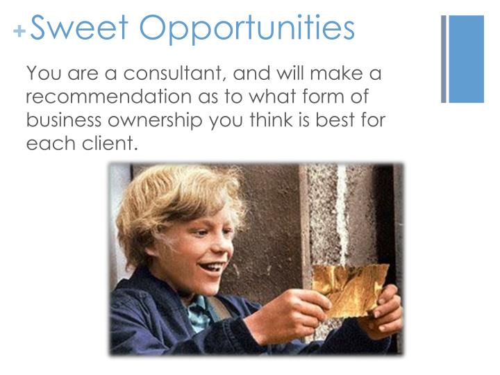 Sweet Opportunities