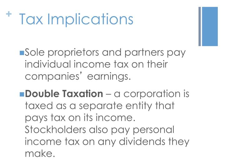 Tax implications selling stock options