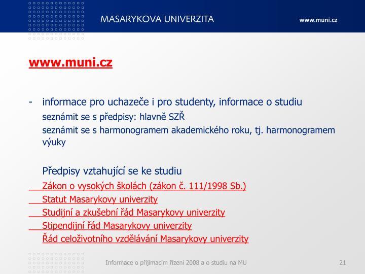 www.muni.cz