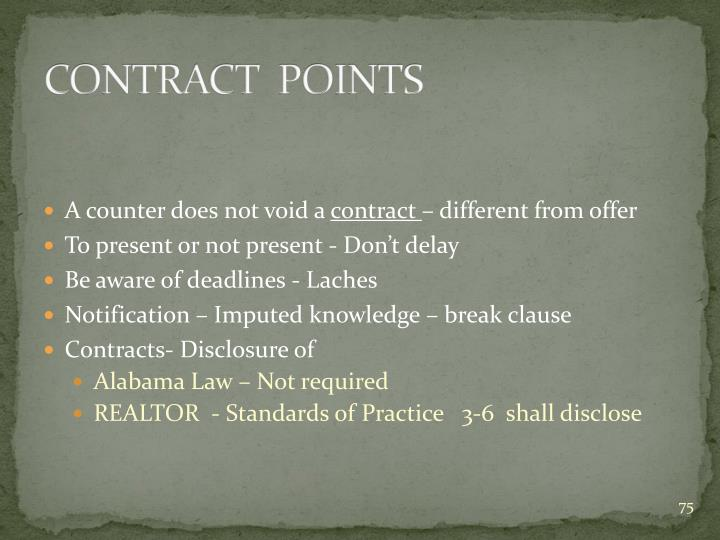 CONTRACT  POINTS